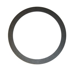 ROSACE BLACK ROUND Ø150 x 6MM